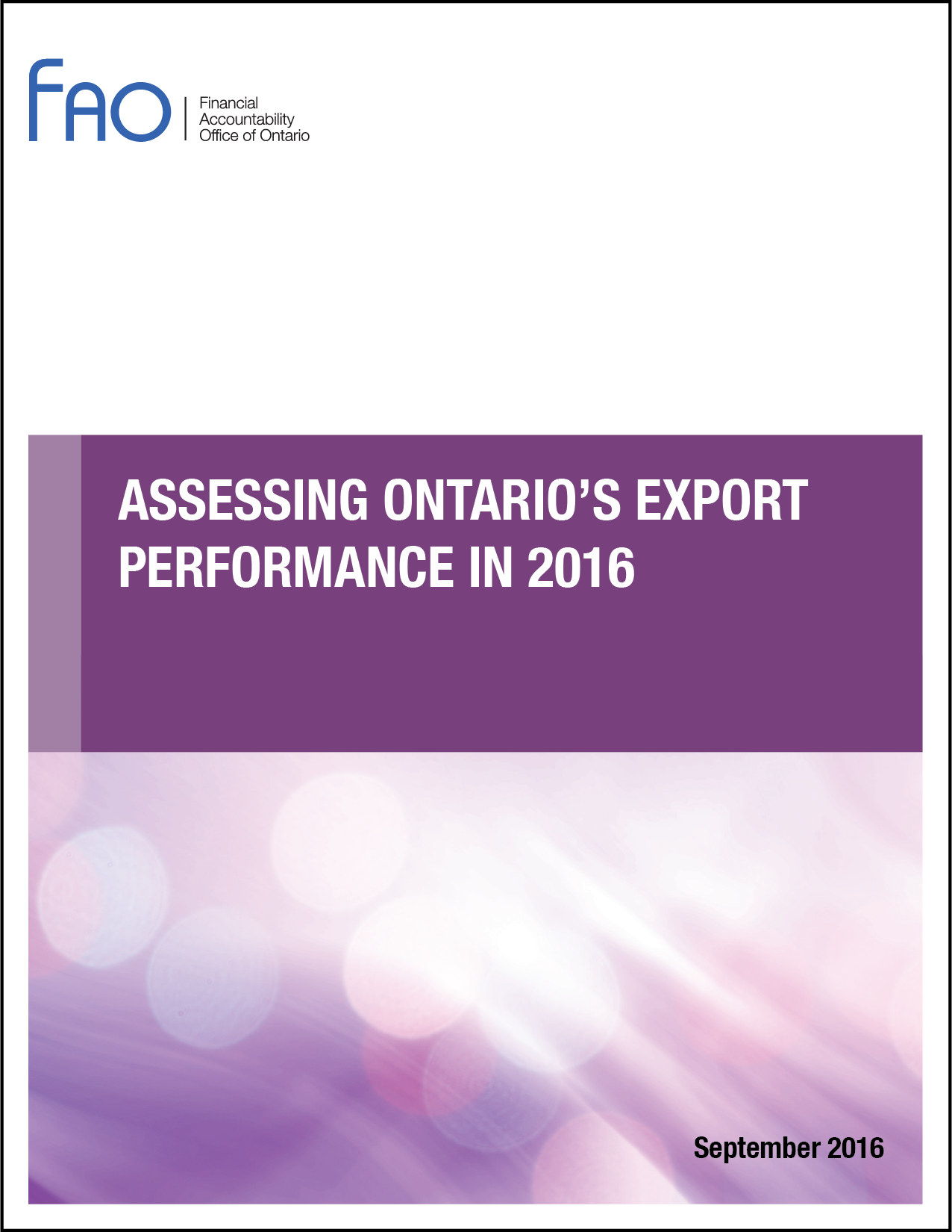 Assessing Ontario's Export Performance in 2016