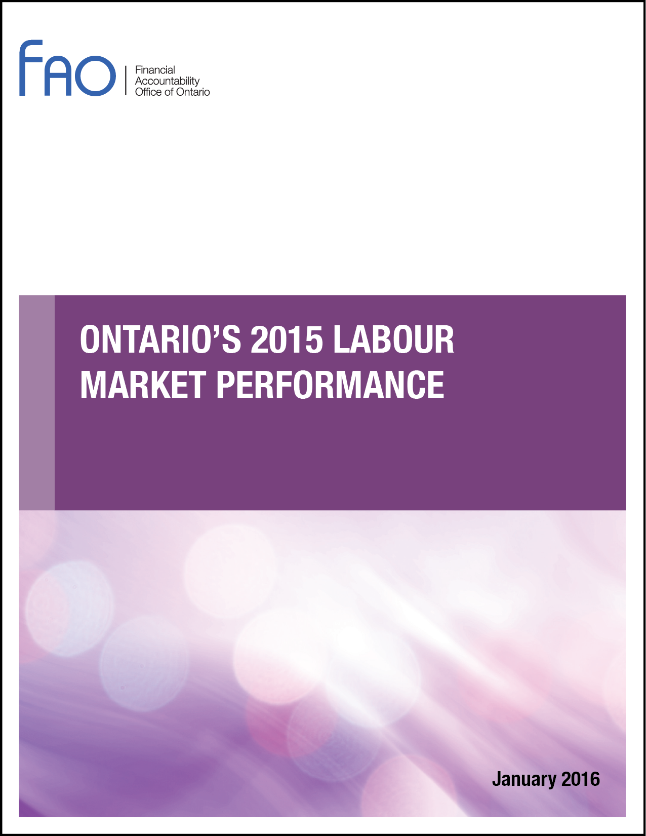 Ontario's 2015 Labour Market Performance
