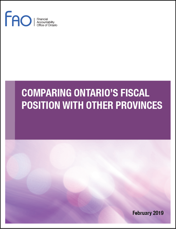 Comparing Ontario's Fiscal Position with Other Provinces