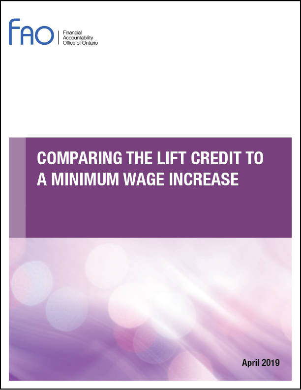 Comparing the LIFT Credit to a Minimum Wage Increase
