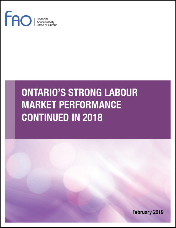 Ontario's strong labour market performance continued in 2018