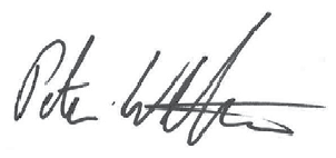 Peter Weltman's signature
