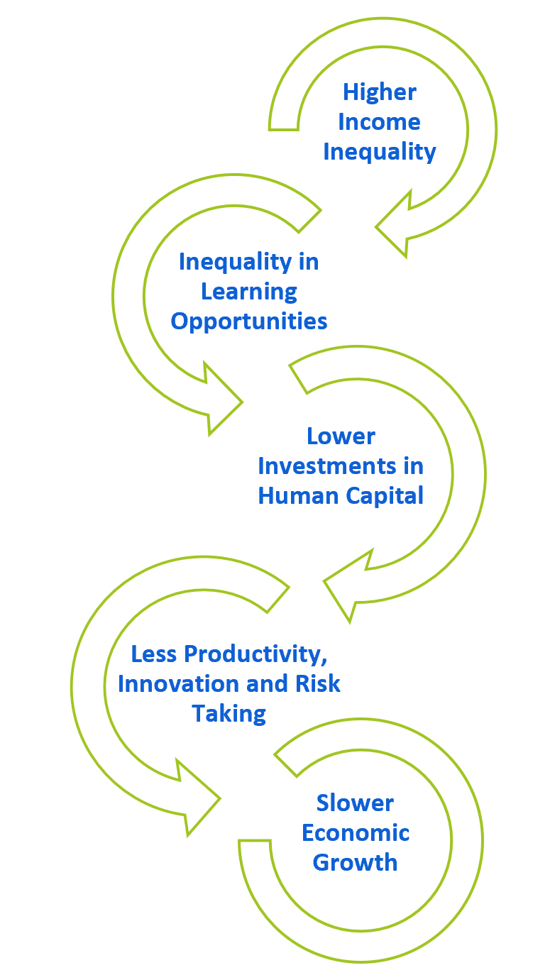 2.8 Income inequality slows the rate of long-term economic growth