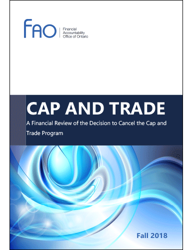 Cap and Trade: A Financial Review of the Decision to Cancel the Cap and Trade Program